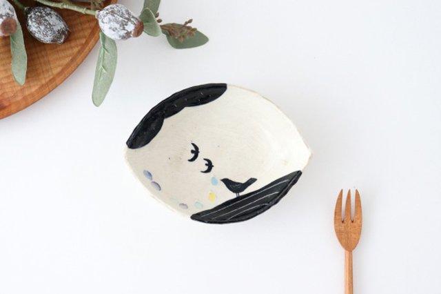 雫の森 レモン型小皿 光の露 陶器 こむろしずか 画像2