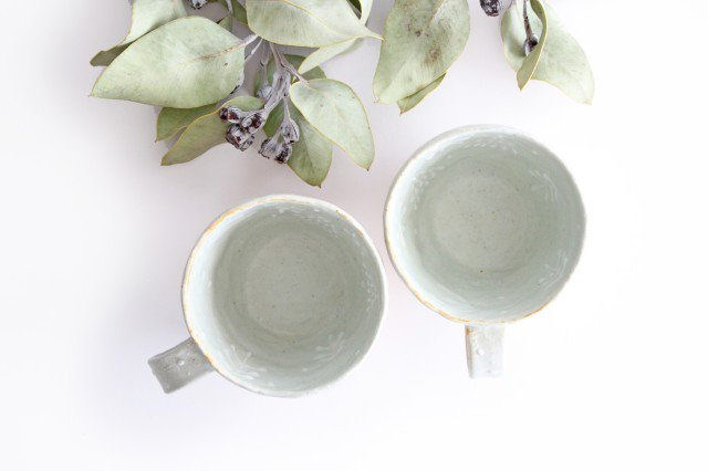 雫の森 マグカップ 高い空 【A】 陶器 こむろしずか 画像2
