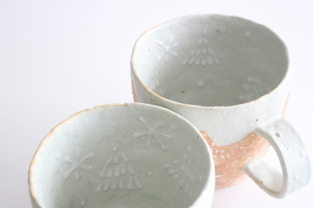 雫の森 マグカップ 高い空 【A】 陶器 こむろしずか 画像4