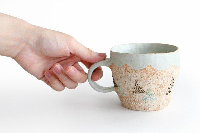 雫の森 マグカップ 高い空 【B】 陶器 こむろしずか 画像2