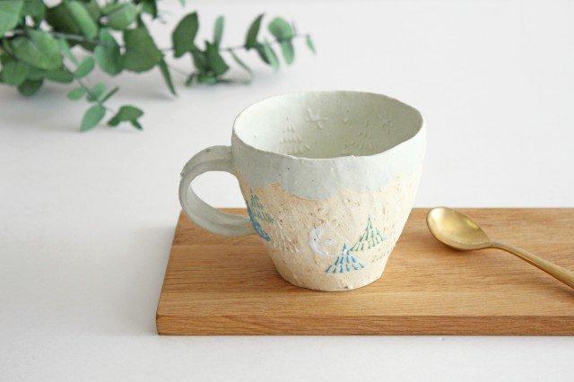 雫の森 マグカップ 高い空 【C】 陶器 こむろしずか