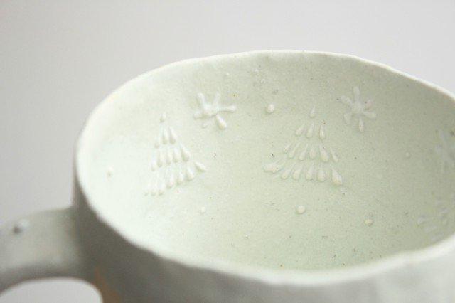 雫の森 マグカップ 高い空 【C】 陶器 こむろしずか 画像2
