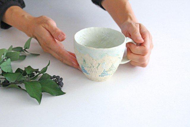 雫の森 マグカップ 高い空 【C】 陶器 こむろしずか 画像5