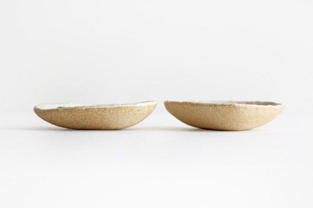 雫の森 三角豆皿 雨上がり 陶器 こむろしずか 画像5