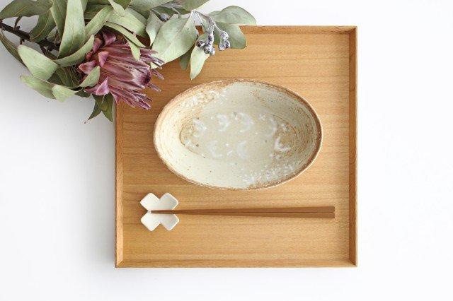 雫の森 耐熱楕円皿 冬の森 【A】 陶器 こむろしずか