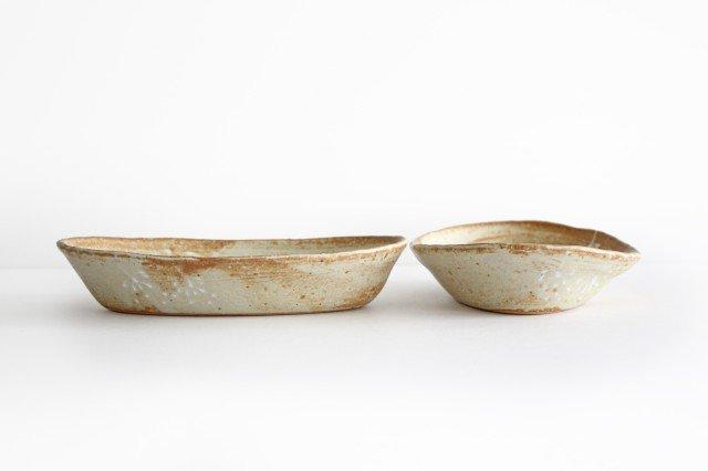 雫の森 耐熱楕円皿 冬の森 【A】 陶器 こむろしずか 画像2
