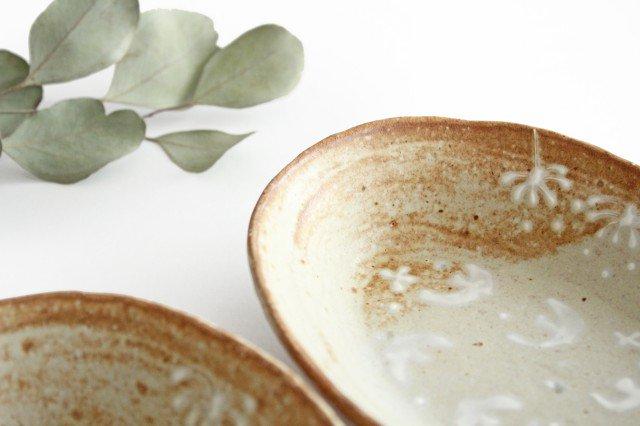 雫の森 耐熱楕円皿 冬の森 【A】 陶器 こむろしずか 画像3