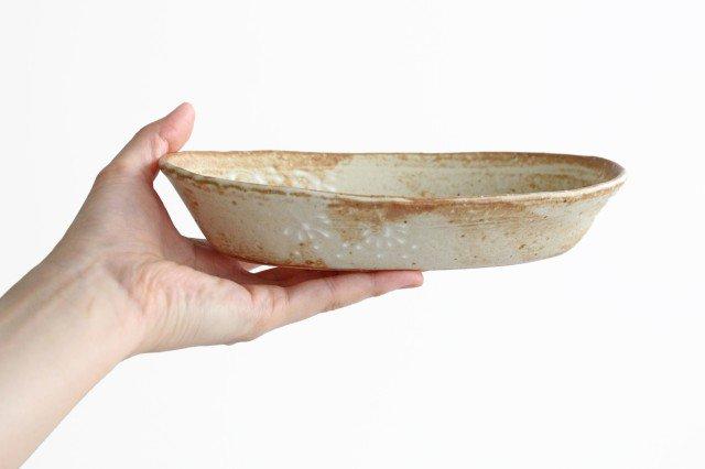 雫の森 耐熱楕円皿 冬の森 【A】 陶器 こむろしずか 画像4