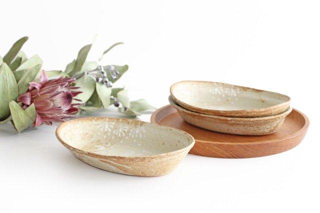 雫の森 耐熱楕円皿 冬の森 【A】 陶器 こむろしずか 画像5