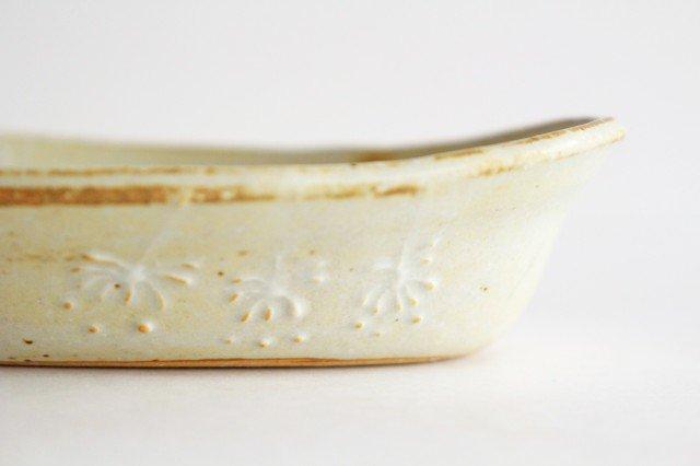 雫の森 耐熱楕円皿 冬の森 【B】 陶器 こむろしずか 画像2