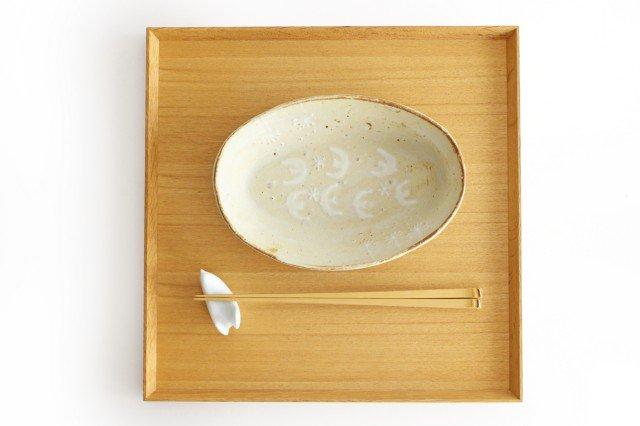 雫の森 耐熱楕円皿 冬の森 【B】 陶器 こむろしずか 画像3