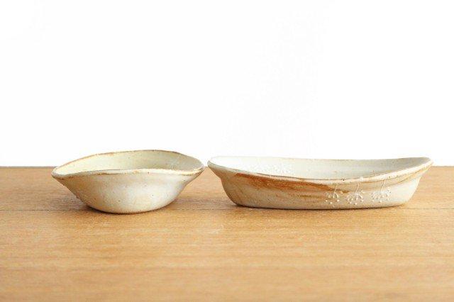 雫の森 耐熱楕円皿 冬の森 【B】 陶器 こむろしずか 画像4