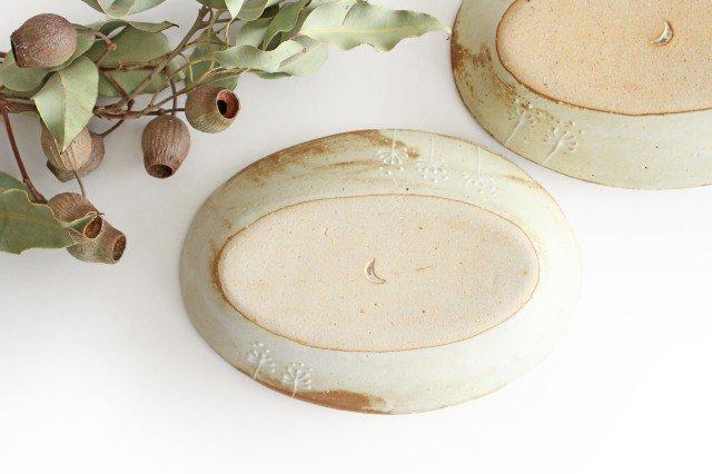 雫の森 耐熱楕円皿 冬の森 【B】 陶器 こむろしずか 画像6