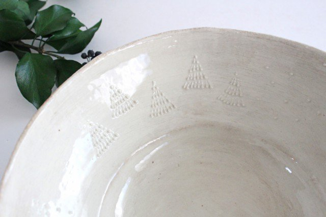 雫の森 大鉢 森の生活 陶器 こむろしずか 画像2