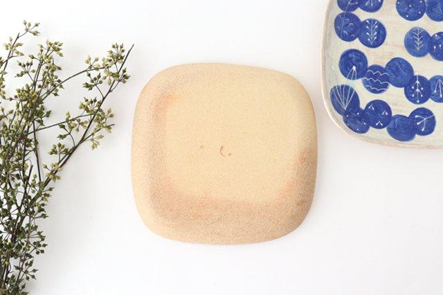 雫の森 四角平皿 群青の森 陶器 こむろしずか 画像2
