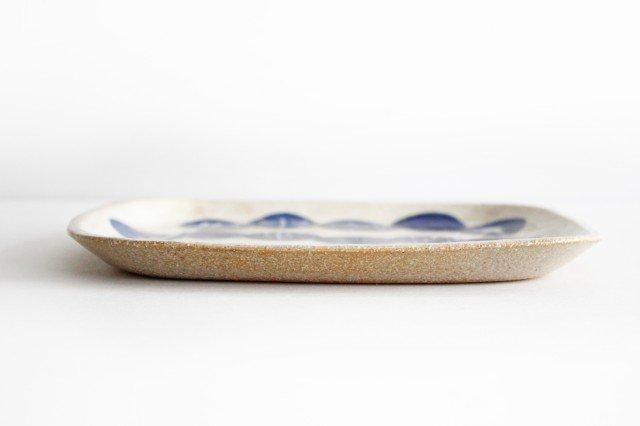 雫の森 四角平皿 群青の森 陶器 こむろしずか 画像6