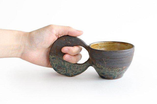マグカップ 月 陶器 土の種 やちむん 画像2