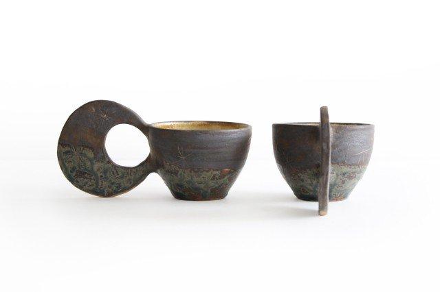 マグカップ 月 陶器 土の種 やちむん 画像4