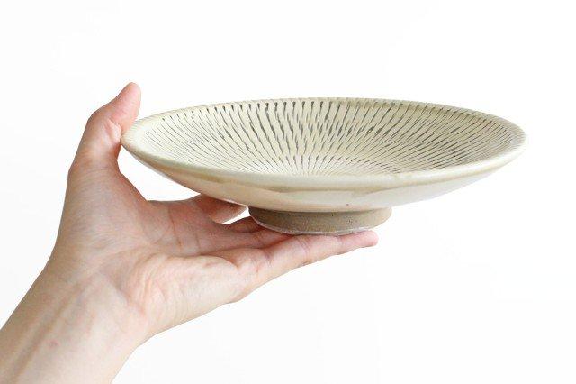6寸皿 トビカンナ 【B】 陶器 小鹿田焼 画像3