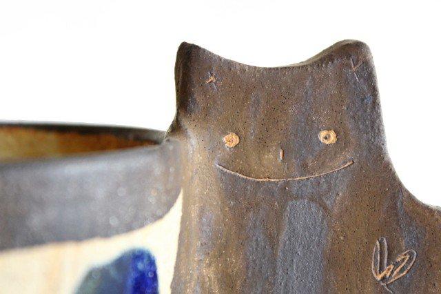 マグカップ ネコ 陶器 土の種 やちむん 画像2