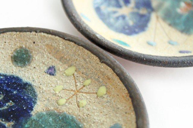 チョウ小皿 トルコブルー 陶器 土の種 やちむん 画像2