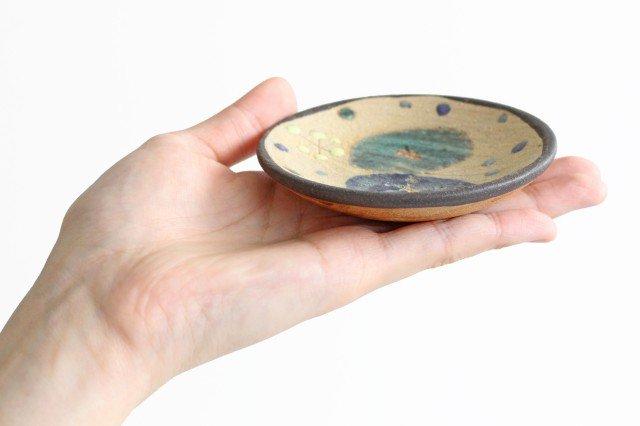 チョウ小皿 トルコブルー 陶器 土の種 やちむん 画像3