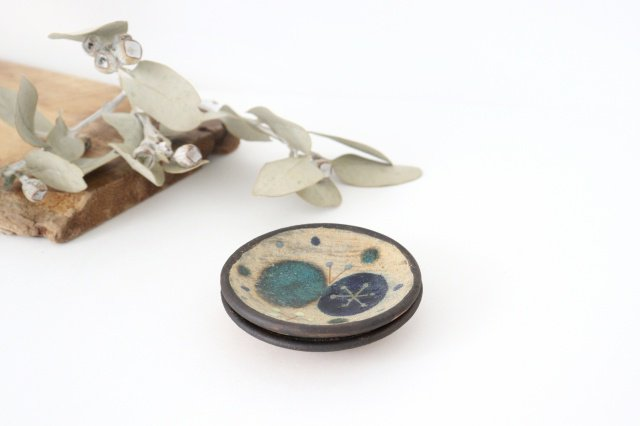 チョウ小皿 トルコブルー 陶器 土の種 やちむん 画像4