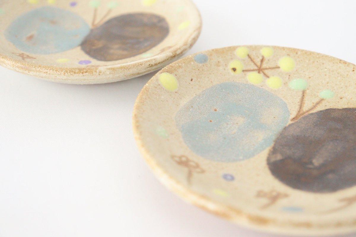 チョウ小皿 スカイブルー 陶器 土の種 やちむん 画像3