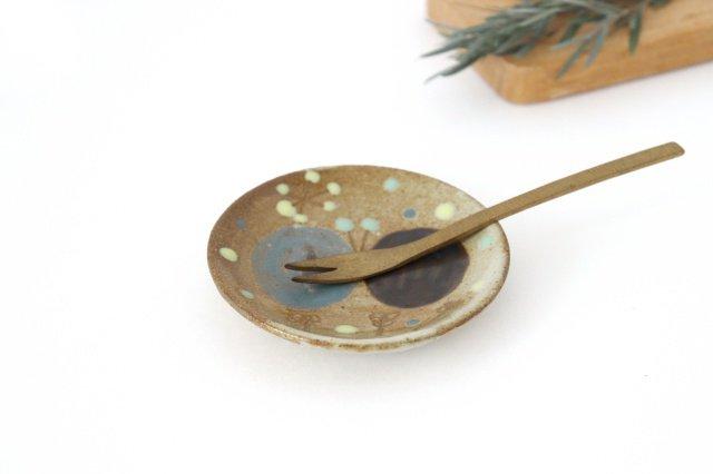 チョウ小皿 スカイブルー 陶器 土の種 やちむん 画像4
