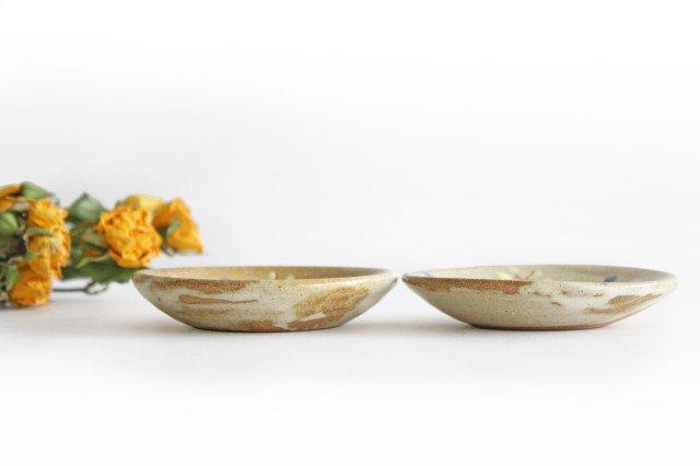 チョウ小皿 スカイブルー 陶器 土の種 やちむん 画像6