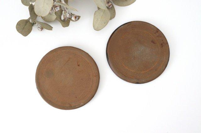 15cmプレート ネコと花 陶器 土の種 やちむん 画像6