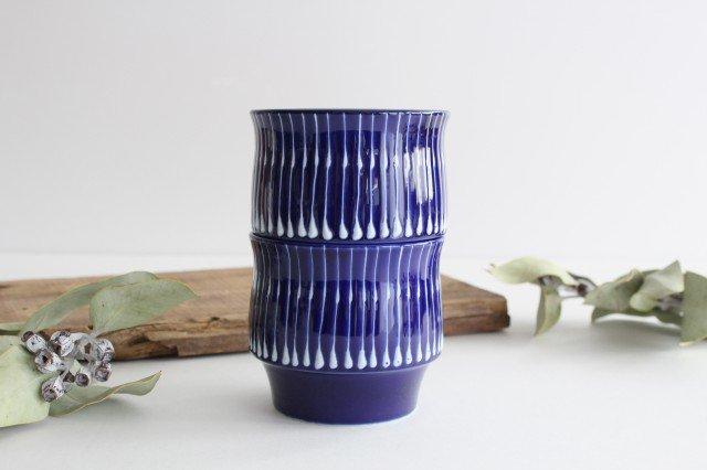 瑠璃 スタックカップ 雨垂れ 磁器 波佐見焼 画像5