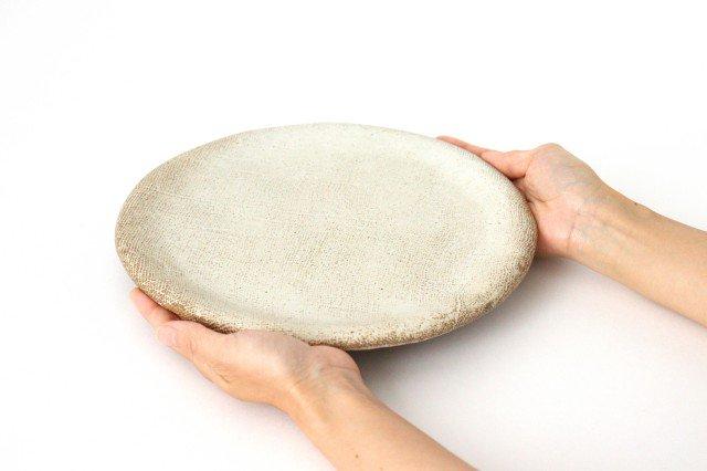 ざぶとん丸皿 大 白 陶器 宮崎和佳子 画像4