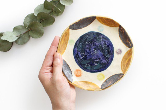 小皿 ドロップ 陶器 小澤早苗 やちむん 画像5