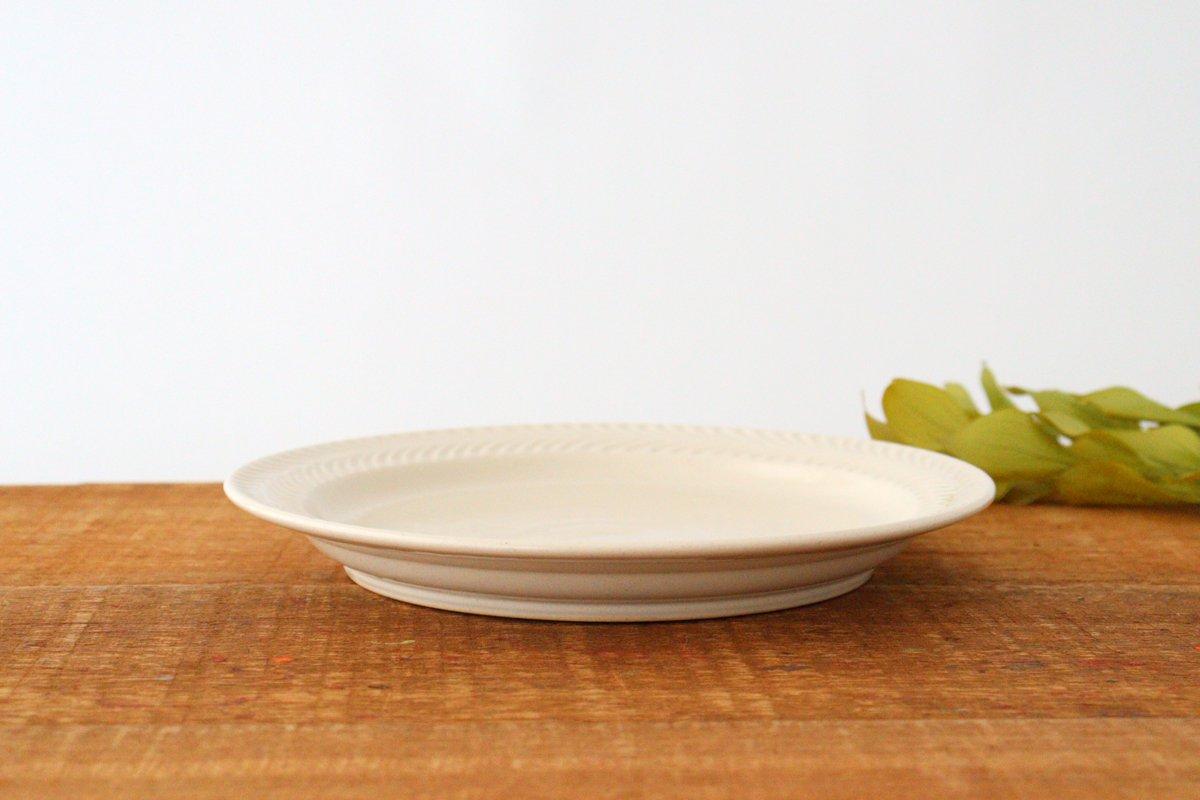 24cmプレート アイボリー 陶器 ローズマリー 波佐見焼 画像4