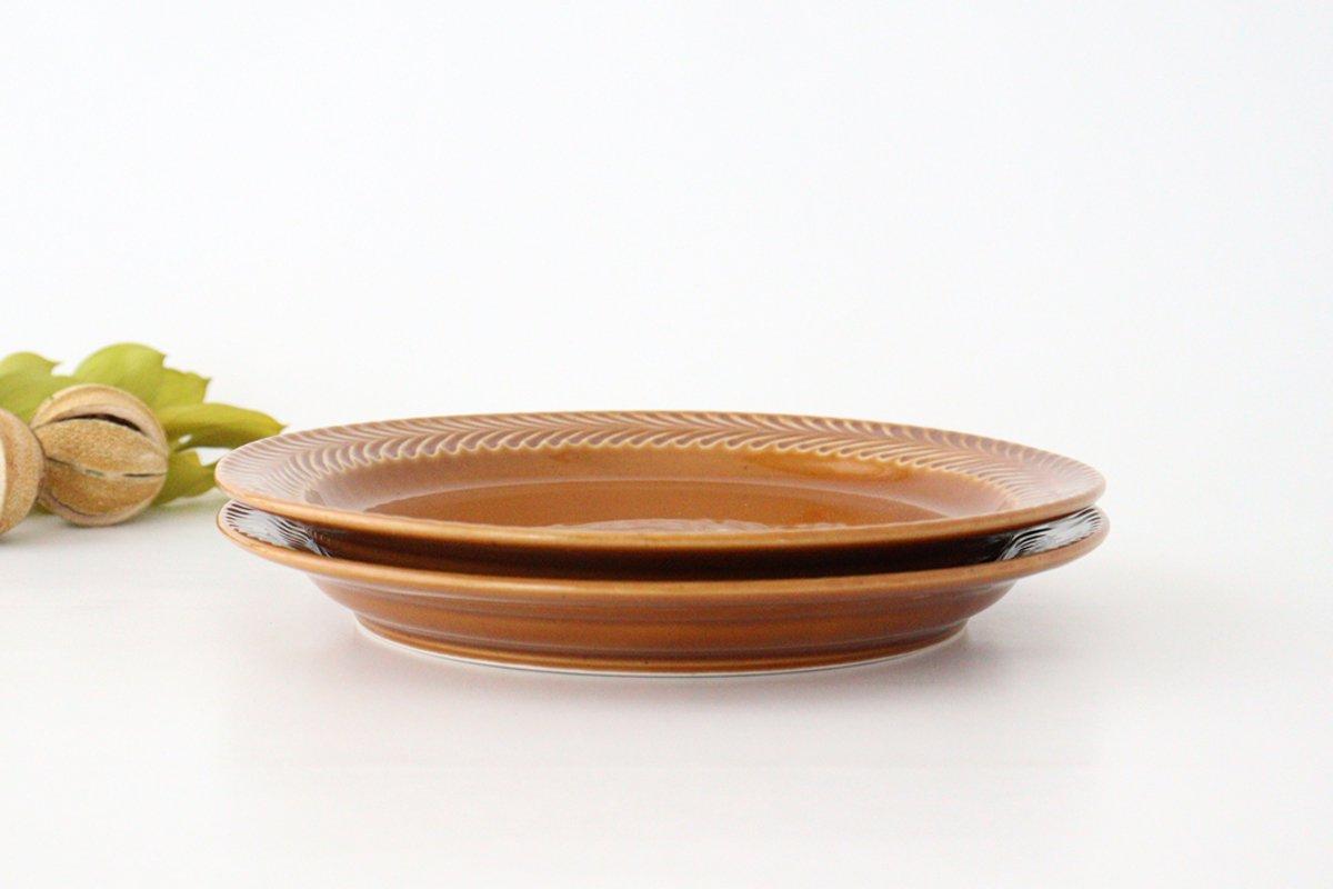 ローズマリー 24cmプレート 琥珀 陶器 波佐見焼 画像2