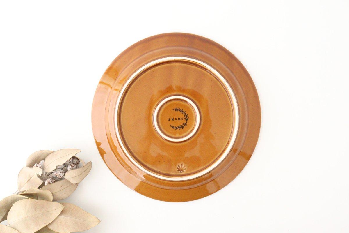 ローズマリー 24cmプレート 琥珀 陶器 波佐見焼 画像4