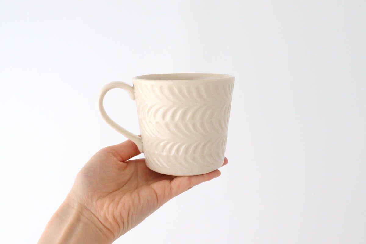 マグカップ アイボリー 陶器 ローズマリー 波佐見焼 画像3