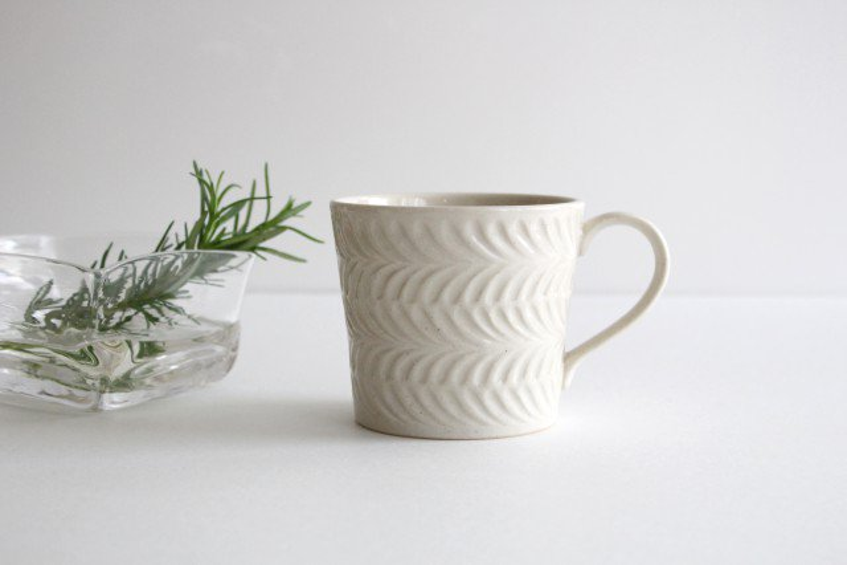 マグカップ アイボリー 陶器 ローズマリー 波佐見焼 画像6