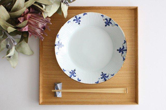 しのぎ7寸皿 LEAVES 磁器 皓洋窯 有田焼 画像6