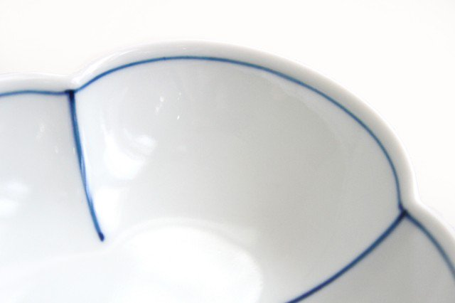 みのり木瓜小鉢 染付ふちどり 磁器 皓洋窯 有田焼 画像4
