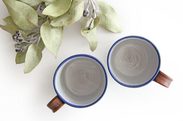 しのぎマグカップ 陶器 工房ことりの やちむん 画像2