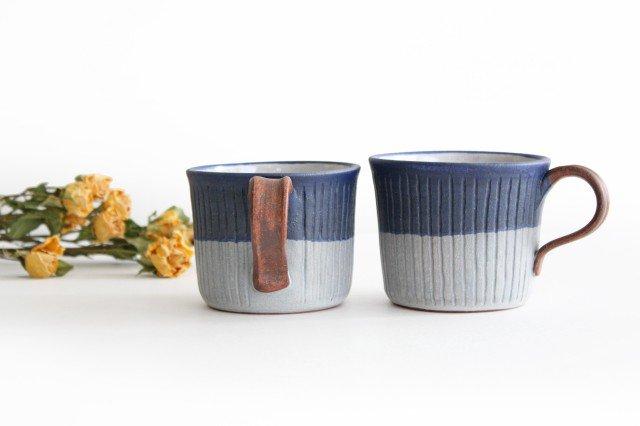 しのぎマグカップ 陶器 工房ことりの やちむん 画像4