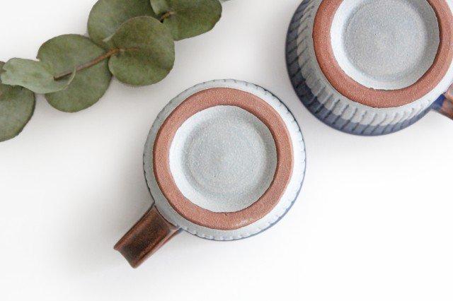 しのぎマグカップ 陶器 工房ことりの やちむん 画像5
