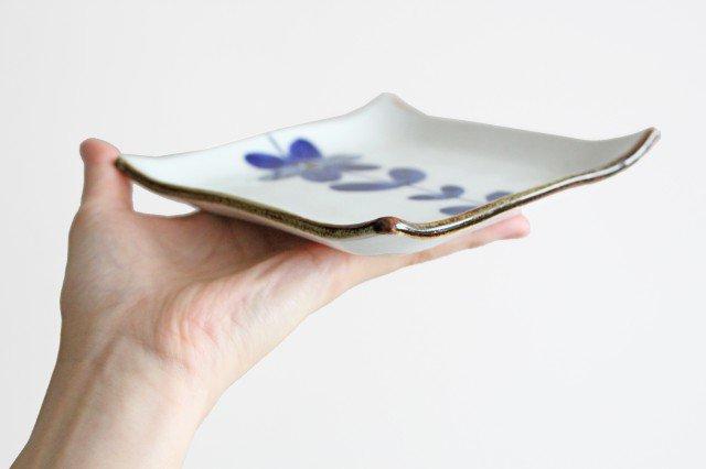手描き青花 4寸正角皿 磁器 波佐見焼 画像6