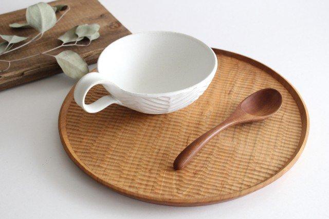 ヘリンボーン スープカップ マットホワイト 陶器 わかさま陶芸 益子焼 画像4