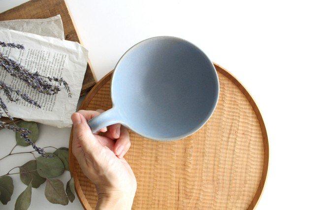 ヘリンボーン スープカップ ブルーグレー 陶器 わかさま陶芸 益子焼 画像2