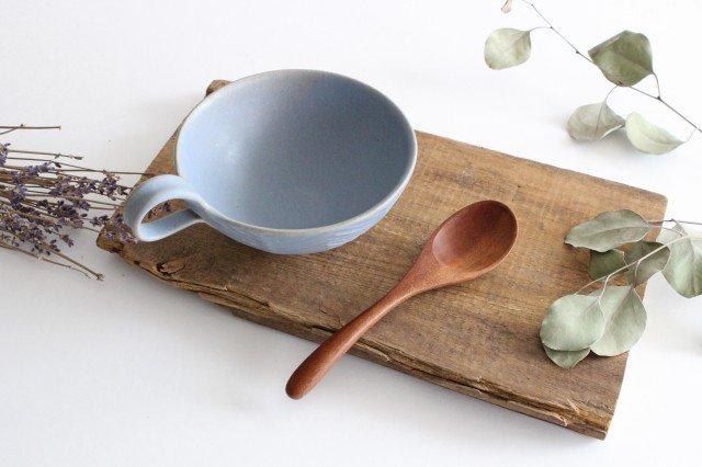 ヘリンボーン スープカップ ブルーグレー 陶器 わかさま陶芸 益子焼 画像6