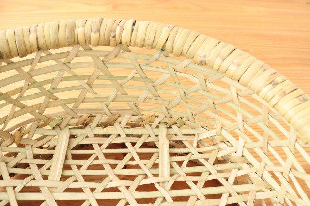 楕円椀かご 中 根曲竹 福島 画像4