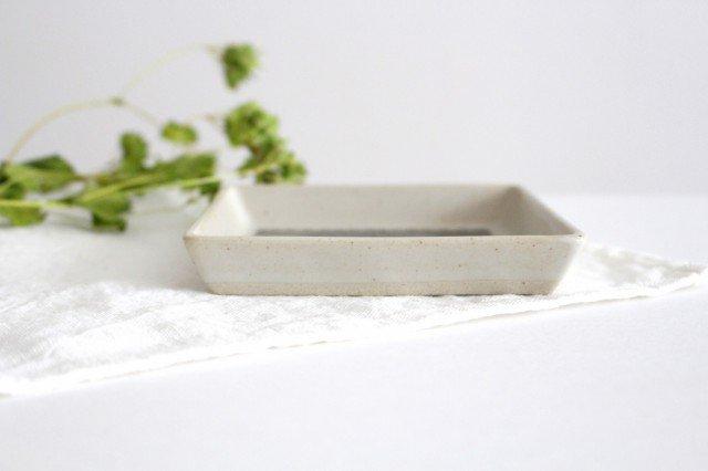 正角皿 ヘリンボーン ブラウン 陶器 ORIME 波佐見焼 画像2